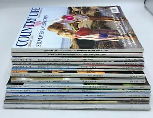 Lot of Country Life Magazine x 14 Issue 2002 - 2004
