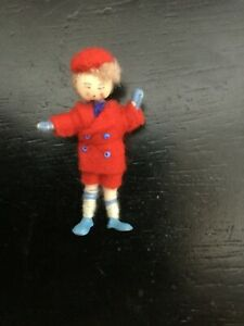 """Doll Grecon Made in England 2.25"""" Figure Thread wrapped Metal Feet"""