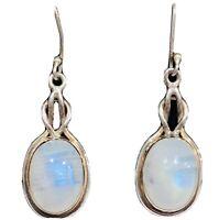 925 Sterling Silver Moonstone Earrings