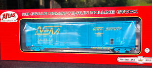 N DE M 50' BERWICK BOX CAR ATLAS HO NACIONALES DE MEXICO BLUE NEW MINT OOP