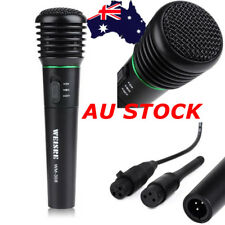 Multi Wired Wireless 2in1 Handheld Microphone Mic Receiver System Undirectional