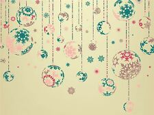 ART PRINT POSTER PAINTING DRAWING CHRISTMAS TREE BAUBLE DESIGN LFMP0990