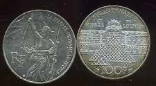 FRANCE  FRANCIA  100 francs  1993  musée du LOUVRE  argent  SILVER   ( bis )
