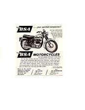 1961 BSA SUPER ROCKET MOTORCYCLE ~ ORIGINAL SMALLER PRINT AD
