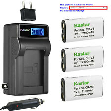 Kastar Battery LCD AC Charger for Pentax CR-V3 & DigiBino 100 Optio 230 Optio 30
