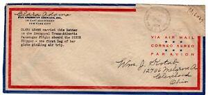 1939 Dixie Clipper PAA 1st Flight Carried Clara Adams w/ Letter to Kotab