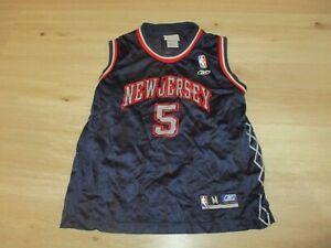 reebok NEW JERSEY NETS #5 KIDD shirt oldschool vintage trikot NBA basketball