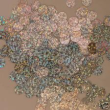 Sequins Paillettes / Flat 10mm Silver Hologram 225 pieces
