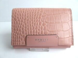Radley Arlington Court Pink Leather Flapover Purse RRP £59 New With Dust Bag