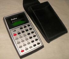 älter: SANTRON  71SR Taschenrechner / grüne Anzeige / mit Etui