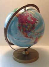 """Vintage Replogle Globes World Nations Series 12"""" Globe Double Axis Textured EUC"""