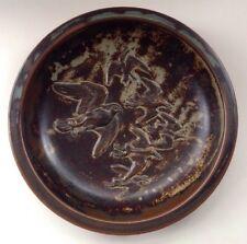 Knud Kyhn Rare Royal Copenhagen Bowl, Relief Decorated Birds, Design 21586