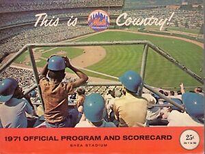 1971 (Aug.3 G.1) MLB Baseball Program Cincinnati Reds @ New York Mets, scored
