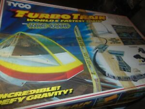"1986 TYCO ""NITE GLOW"" TURBO TRAINS SET Complete"