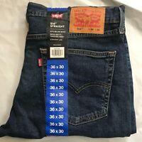 Levi Men's 514 Cotton Straight Leg Regular Fit 5 Pocket Denim Blue Jeans Pants