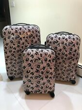 "Jessica Simpson 20""Leopard Hardside Spinner Suitcase"