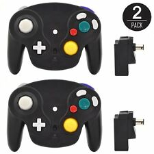 2 New Wireless Controller for Nintendo GameCube Wii U Not Wavebird Adapter Black