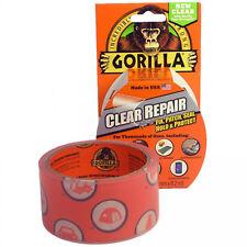 2 x Gorilla Crystal Clear Repair Tape 8.2m x 48mm Packaging Tapes Rolls Selotape