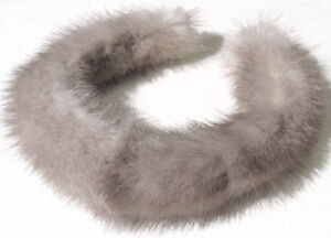 Mink Headband Neck Jewelry Chain Hair Accessories Alice Band Silver Grey