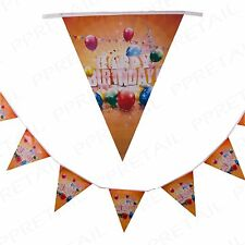 2x LARGE HAPPY BIRTHDAY BUNTING 4M/13ft Long Party Wall/Ceiling Decoration Strip