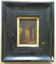 BELGISCHE SCHOOL XIXe / TRAPPENHUIS / OLIEVERF PANEEL / 29x25cm / KADER / MONO