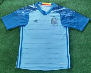 Adidas Spain Soccer Jersey Sky Blue Youth Medium Rare