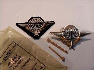 FRANCE PARACHUTE REGIMENT 'WINGS' BADGE Drago Paris and FABRIC BADGE