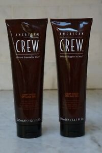 2 PACK. 13.1 oz. American Crew Light Hold Styling Gel. 390ml. NEW. FREE SHIPPING