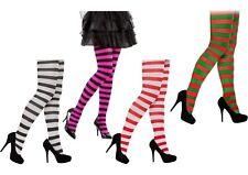 Stripe Stripey Tights Elf Miss Santa Red Green White Neon Purple Black Halloween