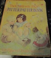The Children's 1928 Pitter Patter Book, Whitman Publishing, Hardcover, 208 Pages