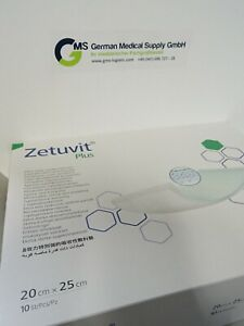 ZETUVIT Plus Saugkompressen steril 20 x 25 cm 2 Pck x 10 St = 20 St PZN 02536644