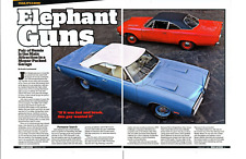 1969 HEMI ROAD RUNNER & 1970 HEMI SUPER BEE ~ NICE 6-PAGE ARTICLE / AD