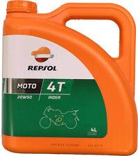 Aceite Repsol Moto Rider 4T 20W50 | 4 Litros | Lubricante | ¡Envío 24 horas!