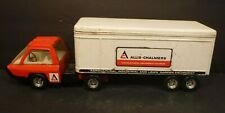 Vintage ERTL Allis-Chalmers Pressed Steel Truck & Trailer Semi Truck 1/25 Scale