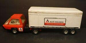 Vintage ERTL Allis-Chalmers Pressed Steel Truck & Trailer Semi Truck 1/25 Scale