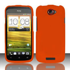 For HTC ONE S Rubberized HARD Protector Case Snap On Phone Cover Rubber Orange