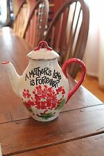 """A Mother's ""Love Is Forever"" Teapot"