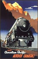 Canadian Pacific 1940 Across Canada Vintage Poster Print Art Travel Advert