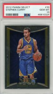 2012 Panini Select Stephen Curry #39 (1st Year Select) - Gem Mint PSA 10