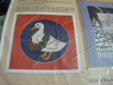 "Creative Circle Holly Duck Needlepoint Kit 10 inches Diameter on 13""x13"" Canvas"