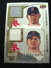 Papelbon/Matsuzaka Game-Used Memorabilia Card