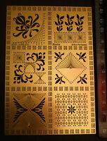 Erica/Fortgens/stencil/emboss/Flower/Oblong/Floral/Multi/Blocks/4.050.376