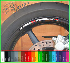 12 x APRILIA TUONO R Wheel Rim Stickers Decals - Many Colours - factory r (o)