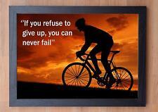Magnifique Encadré Cyclisme Citation Inspirante L / Imprimé / If You Refuse To