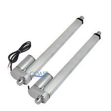 """Set De 2 Piezas Heavy Duty 18 /""""Stroke actuadores lineales de 220lbs Dc 12volt 14mm//s Velocidad"""