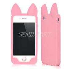 Custodia Case Cover Rosa Orecchie di Gatto Coniglio in Silicone per iPhone 5 5S