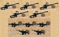 GI Joe 1:18 Action Figure 3.75 BARRETT M82 Sniper RIFLE M249 Machine Gun 10pcs