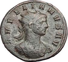 AURELIAN Genuine 274AD Authentic Ancient Original Roman Coin ORBIS i64922