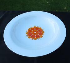 Retro Thomas by Rosenthal Orange Pin Wheel Pinwheel Porcelain Rimmed Soup Bowls