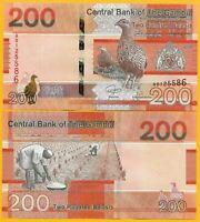 GAMBIA 200 Dalasis 2019 P NEW DESIGN UNC